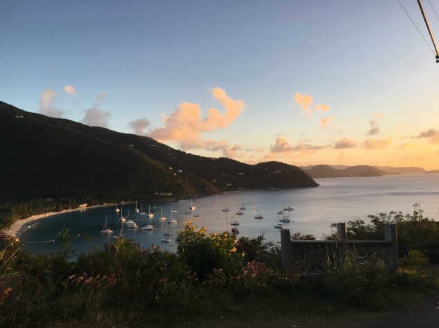 Sunset in Tortola the first night